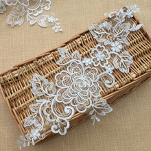 French LSewing Supplies Chantilly Embroidered DIY Bridal Lace Trim High Quality Craft Accessories Patch Applique T169