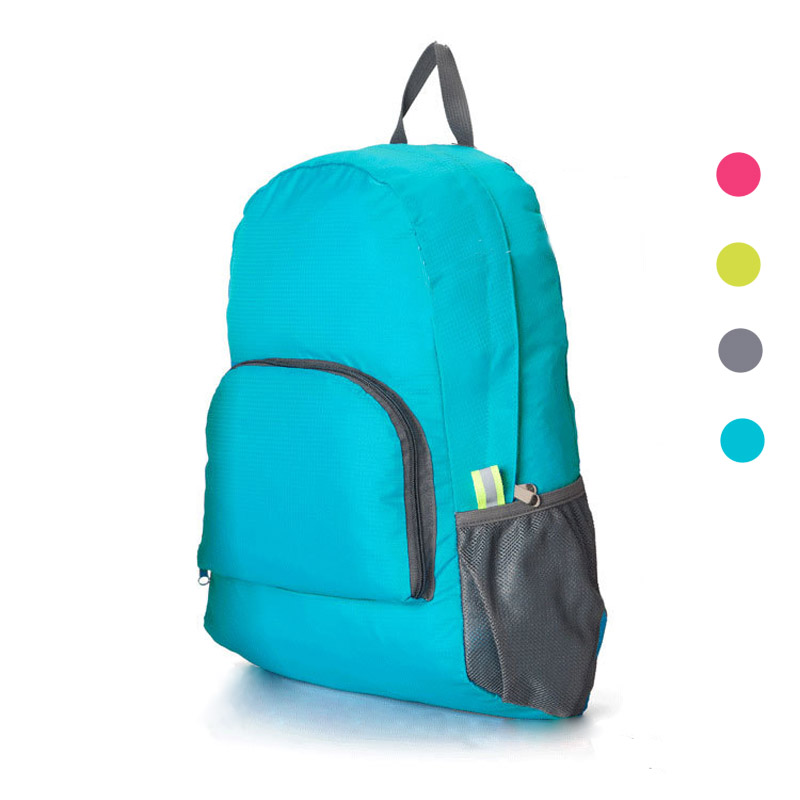 1 Pcs The Portable Zipper Women/Men Backpack Solid Nylon Daily Travel Backpacks Thin Shoulder bags Folding Bag Travel Bags