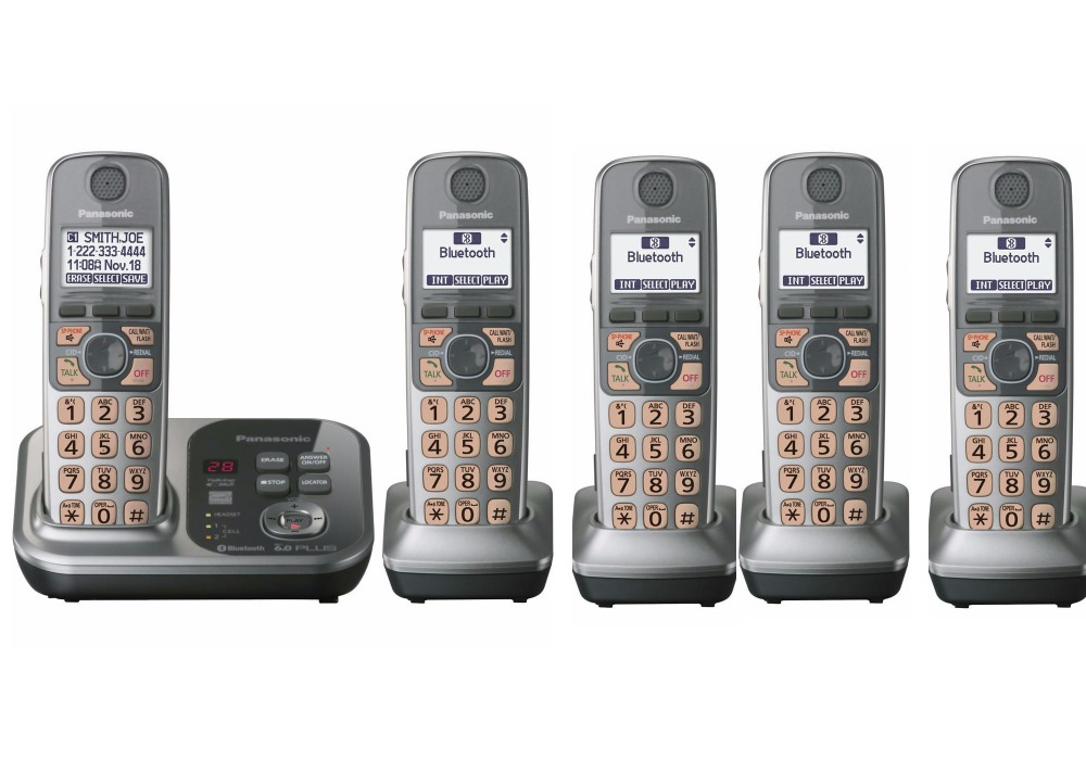 5 Handsets KX TG7731S 1 9 GHz Digital wireless phone DECT 6 0 Link to Cell