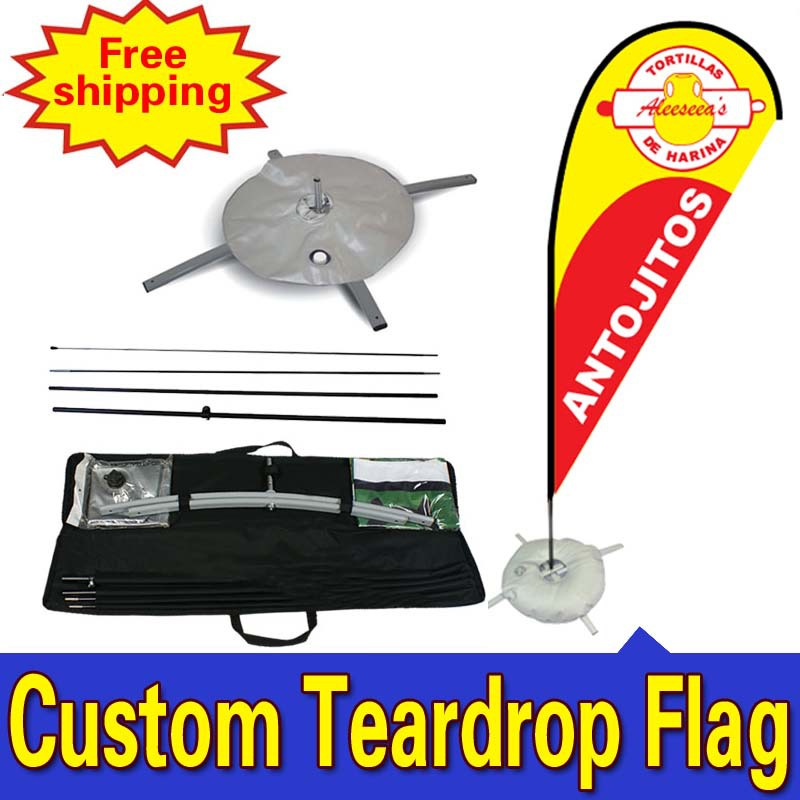 70cm * 225cm zákaznický veletrh zobrazuje jednostranný tisk slza bannery vlajky s křížovým sáčkem na vodu jakýkoli design barevné logo