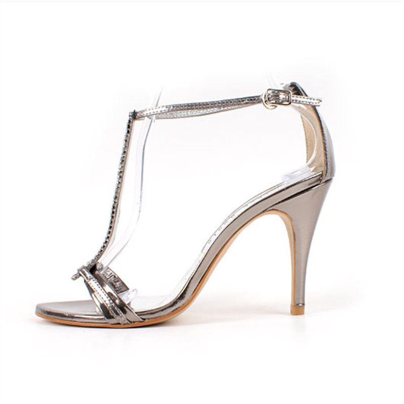 ФОТО Open toe banquet sexy female sandals high thin heels small 31 32 33 plus size 40 41 42 43