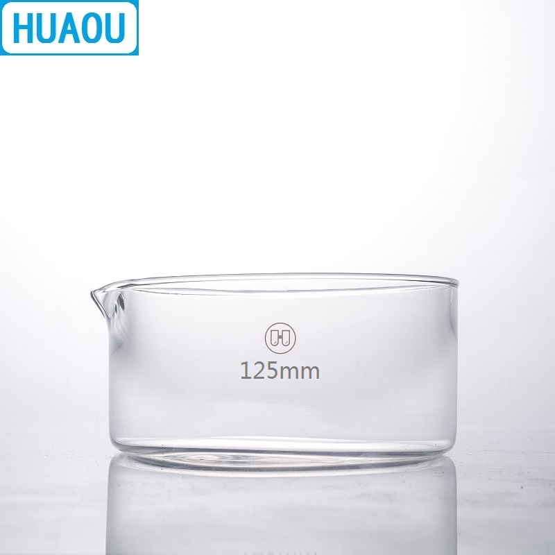 HUAOU 125mm Crystallizing Dish Borosilicate 3.3 Glass Laboratory Chemistry Equipment