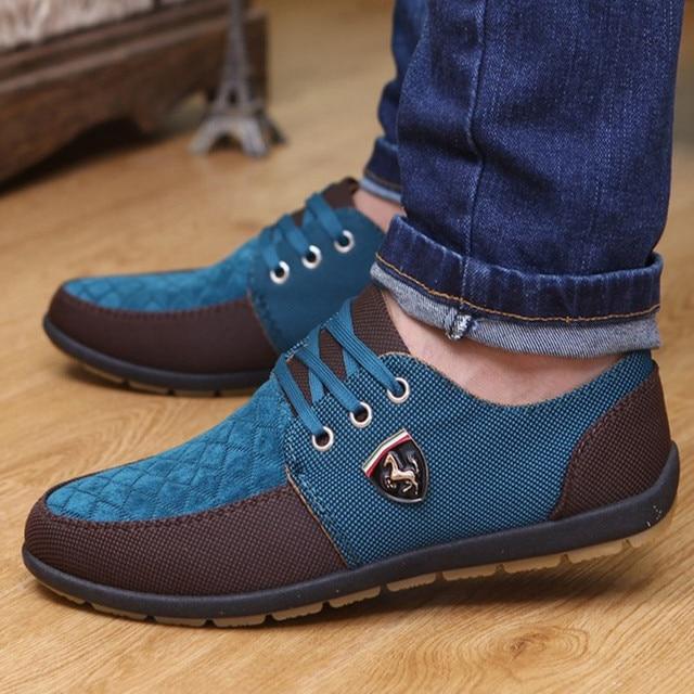 4841691bb7969 Verano 2017 Moda hombres Zapatos Casual zapatos de lona para hombre verano  para los hombres zapatos