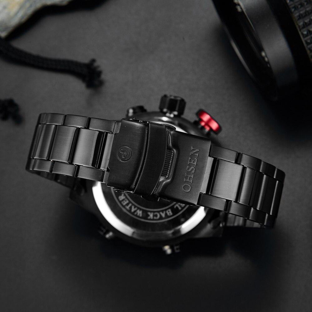 OHSEN Marca Analógico LED Digital Zona Horaria Múltiple Ejército - Relojes para hombres - foto 5