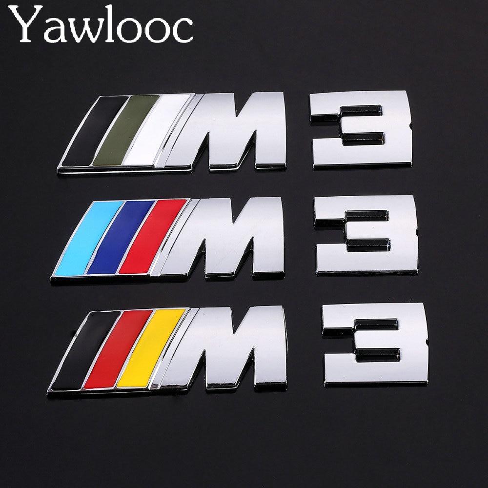 Car sticker design philippines - Yawlooc 1 Pc Lot Car Auto Decoration Badge Stickers M 3 5 Logo Metal 3d
