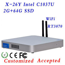 Highest cost effective dual core Mini PC C1037U mini pc mini pc windows wifi  NM70 chipset support 3G and WiFi