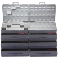 AideTek 8 Unit Of BOXALL48 Lids Empty Enclosure SMD SMT Organizer Surface Mount 8BOXALL48