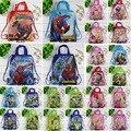 12 Unids Spiderman Princesa Niños de Ben 10 Partido del Bolso de Compras de Impresión Mochilas escolares Mochila Lazo de la Historieta Bolsas de Viaje de Regalo