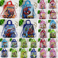 12Pcs Spiderman Princess Ben 10 Children School Bags Cartoon Drawstring Backpack Shopping Bag Party Printing Traveling Bags Gift