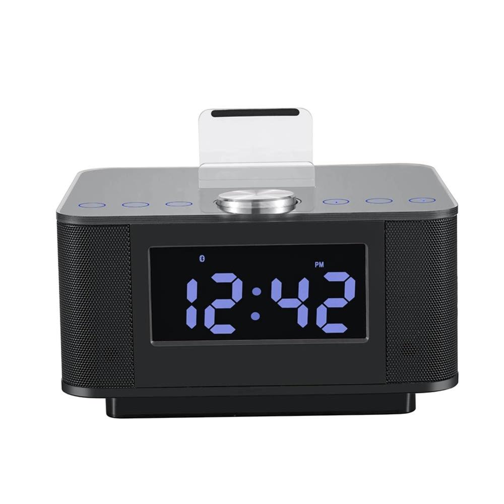 new dual usb speaker docking station bluetooth v2 1 edr alarm clock dock with. Black Bedroom Furniture Sets. Home Design Ideas