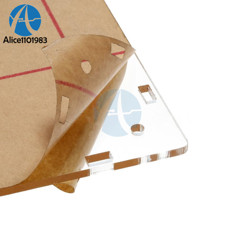 "Clear Acrylic Case Box Shell For DSO138 2.4/"" TFT Digital Oscilloscope /_dm"