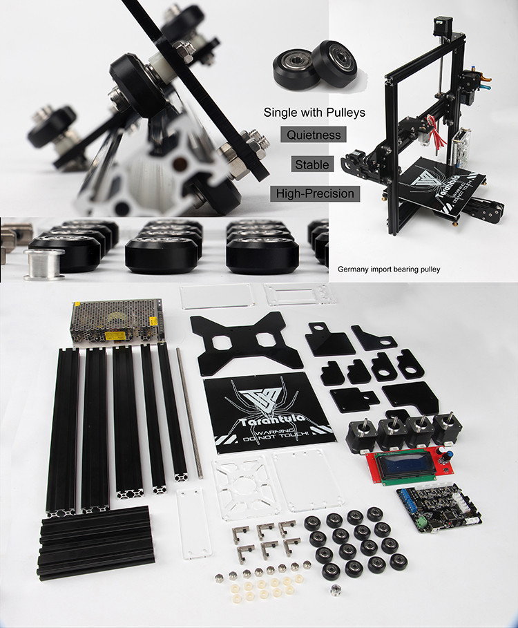 3D Printer Kits TEVO Tarantula I3 Aluminium Extrusion 3D Printer kit 3D Printer 2 Rolls Filament 3d printer kits tevo tarantula i3 aluminium extrusion 3d printer tevo tarantula wiring diagram at panicattacktreatment.co
