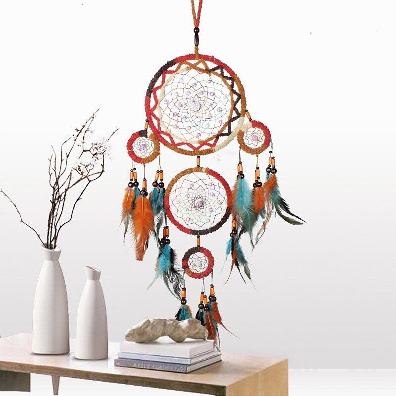 MEMOSTO подвеска «Ловец снов», оригинальный подарок для студентов ручной работы, интерьерное украшение, подвеска «Ловец снов» в индийском стиле, креативный подарок|Ловцы снов и подвесные украшения| | АлиЭкспресс