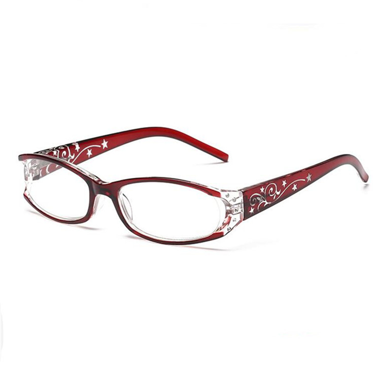Fashion Graceful Women Reading Glasses Beautiful Optical Glasses for Girls Read Glasses 1.0, 1.5, 2.0, 2.5, 3.0, 3.5 Red Purple