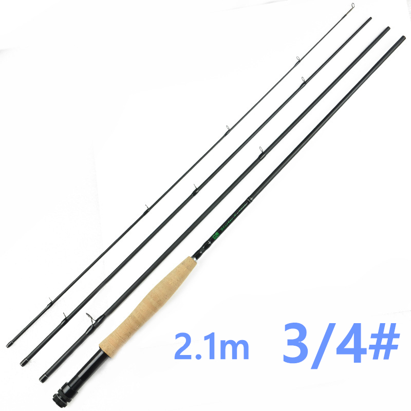 Promotion Free Shipping <font><b>4</b></font> Pieces 3/<font><b>4</b></font> Fly <font><b>Rod</b></font> 30T Carbon 2.1m Fly Fishing <font><b>Rod</b></font>