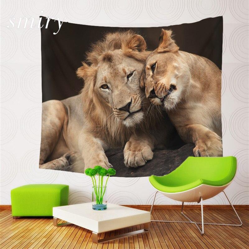 Animal style Mother and Son theme Tapestry Beach Throw Mat Yoga Rug Wall Hanging Gobelin Livingroom Bedding Home Decor