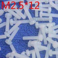 M2.5*12 White 1 pcs Round Head nylon Screw 12mm plastic screw Insulation Philips Screw brand new RoHS compliant PC/board DIY