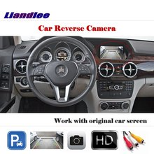 цены Liandlee Auto Reverse Parking Camera For Mercedes Benz GLK Class X204 / Rear Rearview Camera Back Work with Car Factory Screen