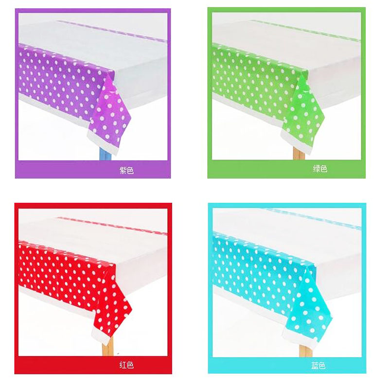 1Pcs/set Cute Polka Dot Plastic Table Cloth Kids Birthday Party Decoration Baby Shower Decoration Supplies Disposable Tablecloth