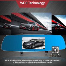 5″ OLED Car Rearview Mirror 2 DVRS Dual Camera Novatek 96655 Full HD 1080P Dash Cam 170 Degree WDR 6G Lens Auto Video Recorder