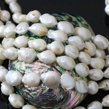 Freeform natural white cultured freshwater pearl beads fahsion irregular hot sale women jewelry making 15inch B1359