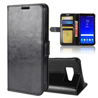 S8Active Case for Samsung Galaxy S8 Active G892A Cases Wallet Card Stent Book Style Flip Leather Covers Cover black SM G892