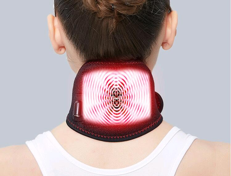Neck Massager Moxa Moxibustion Massage Usb Electric Cervical Spine Pain Release Warming Battery Operated Far Infrared Heating in Massage Relaxation from Beauty Health