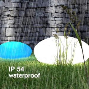 Image 5 - Solar Lights Outdoor, Glow Cobble Stone Shape Solar Garden Light Waterproof Color Changing Landscape Lights with Remote Control