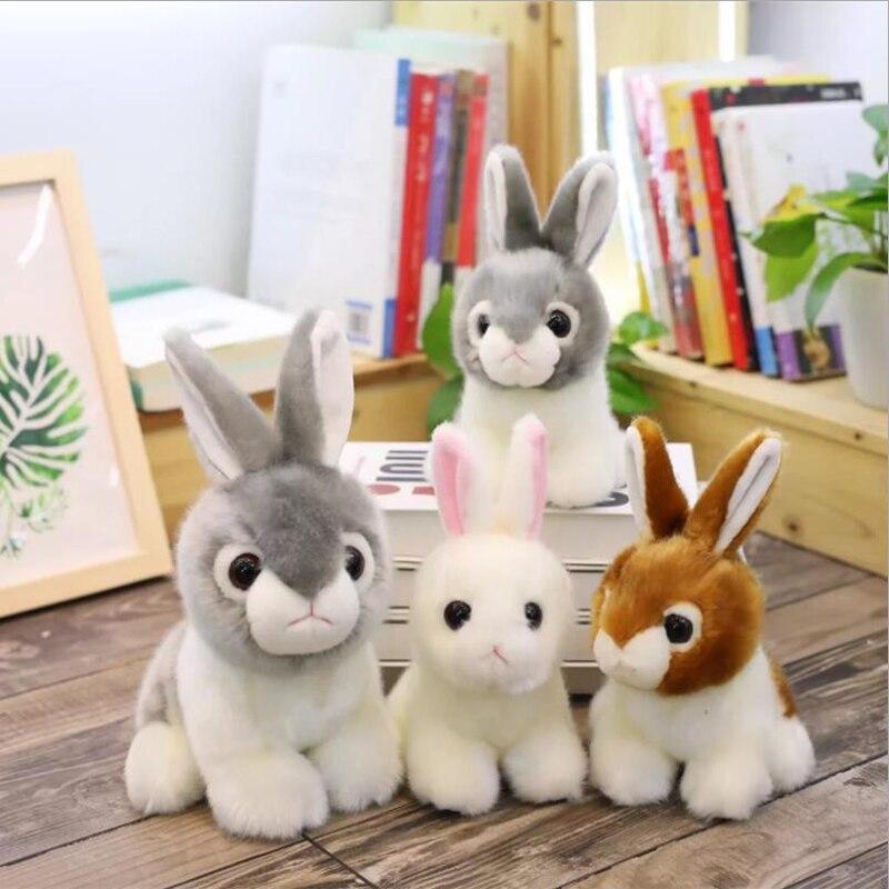 New Style Cute Simulation Rabbit Short Plush Toys Stuffed Animal Doll Toy Children Birthday Gifts