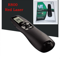 Logitech Presenter R800 Brilliant 5MW Red Laser Pointer LCD Diaplay with Timer Wireless Range UP To 50 Foot