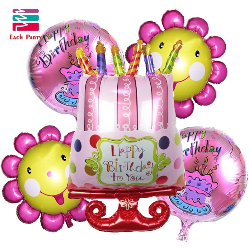 5pcs/lot Beard cake foil balloons baby shower inflatable birthday balloons birth