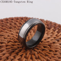 Two Tone Black Tungsten Ring Wedding Band Size 6 - 14