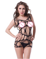 HW3125 Black Hollow Out Bodystocking Plus Size Sex Product Nylon Body Stockings Erotic Open Crotch See