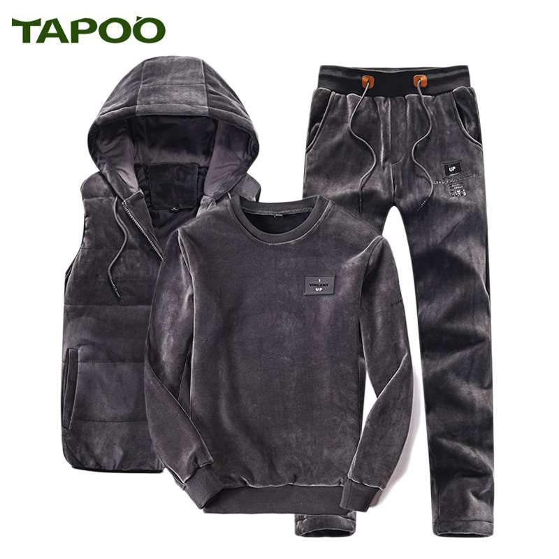 2017 new men s fashion brand clothing TAPOO fashion casual Slim three suit men s suit