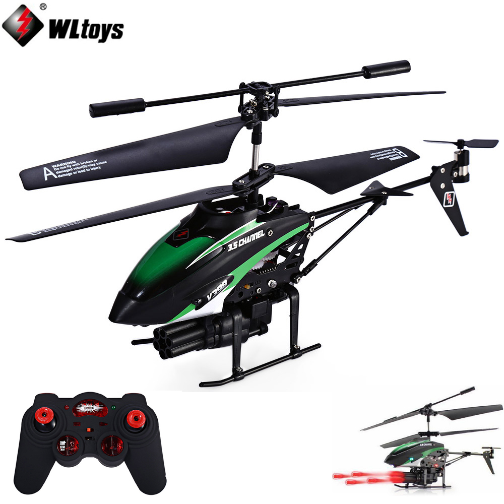 WLtoys V398 RC Helicopter 3.5 CH Missiles Launching IR Remote Control Helicopter with Gyro/LED Light kps10010d high power adjustable switching dc power supply 0 100v 0 10a 110v 220v precision digital dc power supply us eu au plug