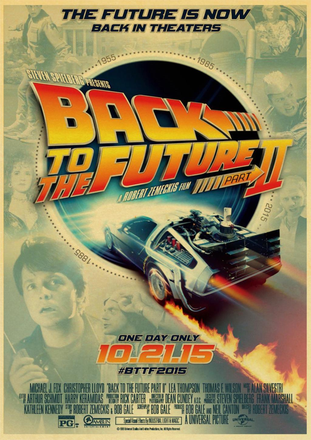 HTB1Gb8KOXzqK1RjSZFoq6zfcXXaq Classic Movie Back To The Future Vintage Posters For Home/Bar/Living Decor kraft Paper high quality poster wall sticker
