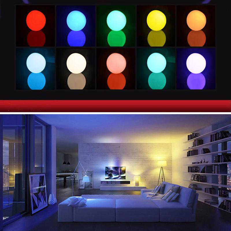 Litake RGB LED Light Bulb - Color Changing with Remote Control,3W-E27-B50