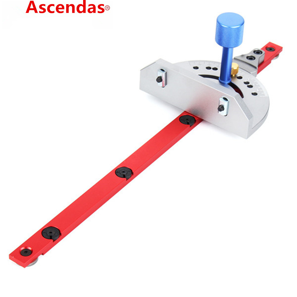 Ascendas Red Miter Gauge Table Saw Router Miter Gauge Sawing Assembly Ruler Woodworking Tool for Bandsaw high quality table saw router miter gauge sawing assembly ruler woodworking diy tools