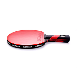 Image 2 - High quality carbon bat table tennis racket with rubber pingpong paddle short handle tennis table rackt long handle offensive