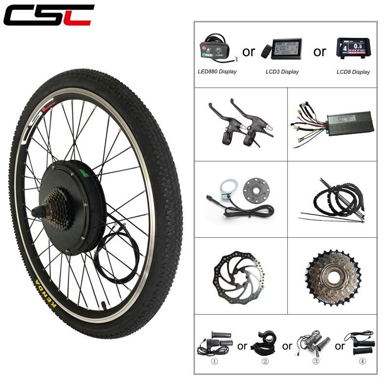 Ebike Bicycle Conversion Kit Bluetooth 48V 500W 1000W 1500W 20 24 26 28 27 5 29