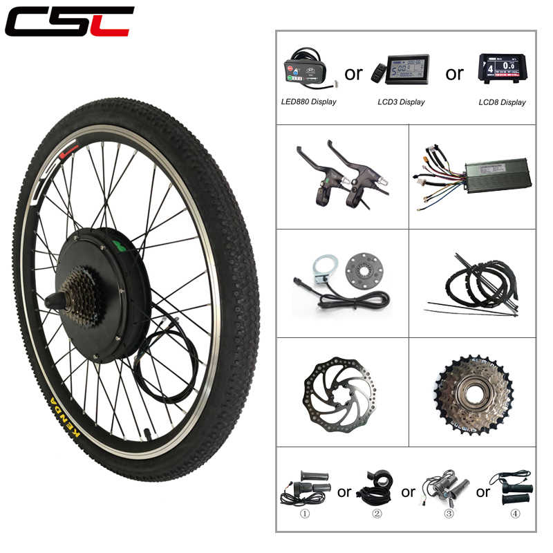 "Ebike Bicycle Conversion Kit Bluetooth 48V 500W 1000W 1500W 20"" 24"" 26"" 28"" 27.5"" 29"" Electric Bike Front or Rear motor Wheel"
