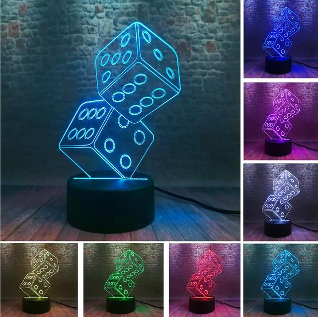 New Texas Hold Em Dice Poker Spades Playing 7 Color Dimming Gradient Led Lights Home Cafe Bar Decor Xmas Gifts Drop Shipping Night Light Illusion Lamp3d Illusion Lamp Aliexpress
