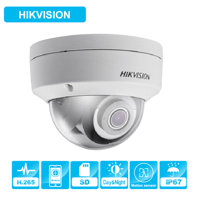 Hik Dome IR Fixed Network Security Night Version CCTV IP Camera DS-2CD2143G0-I IP67 4MP CMOS with SD Card Slot 10pcs lot hik multi language 4mp poe ip camera ds 2cd3145f i 1080p full hd cctv ip camera built in tf card slot ir night vision