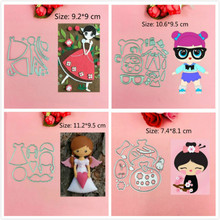 Beautiful love flower girl cutting dies heart  toy doll Scrapbook card paper craft home decoration embossing stencil cutter