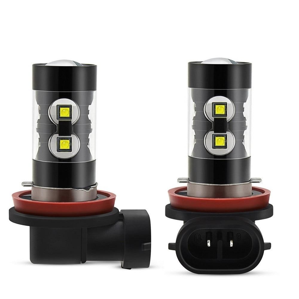 2x Canbus H11 H8 H9 LED Fog Light Bulb For Mercedes Benz W203 W211 W204 W210 W124 AMG CLA W212 W202 W205 W220 W213 W176 ML CLK