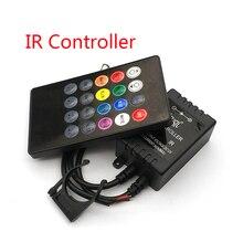 20 klawiszy muzyka czujnik głosu kontroler dźwięk pilot na podczerwień praktyczne strona główna RGB 3528 5050 taśmy LED światła kontrolery RGB