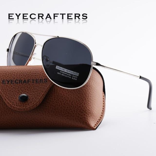 f85c690d69 Eyecrafters Brand HD Polarized Sunglasses Mens Driving Pilot Sunglasses  Fashion Spring Hinge UV400 Eyewear A103