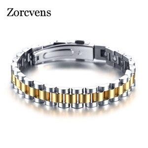 Image 1 - ZORCVENS 99.999% czysta bransoletka z germanu dla kobiet Korea popularne zdrowie magnetyczne germanu energii ze stali nierdzewnej biżuteria