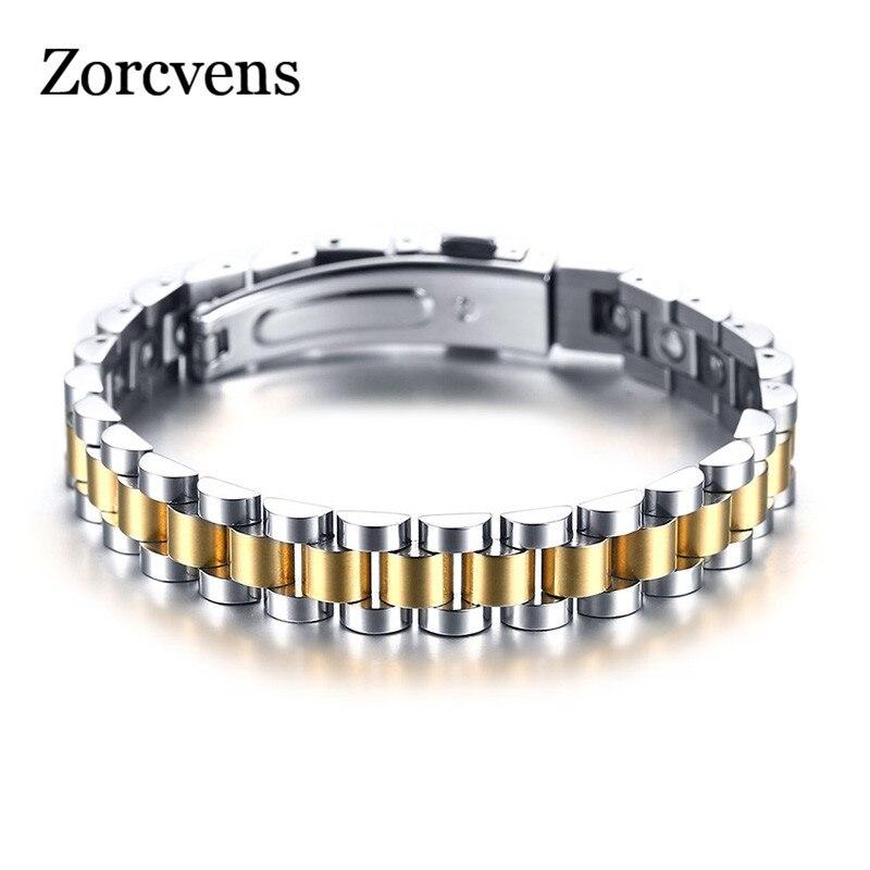 ZORCVENS 99.999% pur Germanium Bracelet pour femmes corée populaire en acier inoxydable santé magnétique Germanium énergie puissance bijoux