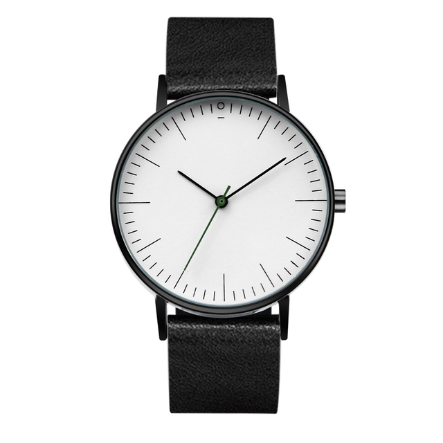 Chronos Quartz Watch for Men Women Casual Leather Strap Mens Watches 40mm Relogi